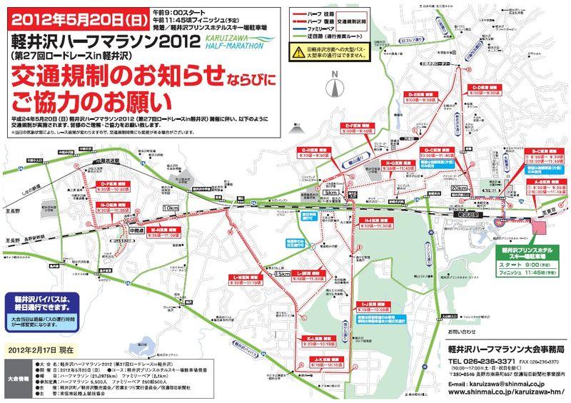 軽井沢ハーフマラソン2012